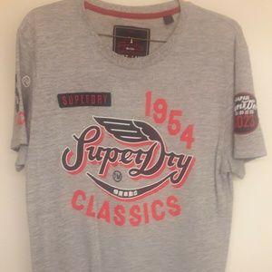 SUPERDRY 1954 Classics Mens Size Large Grey Crew L